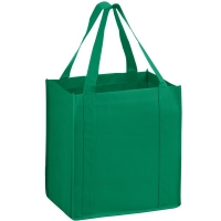custom reusable non woven bags kelly green pp4