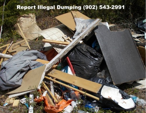 Illegal dumpers can face a fine up to $1,272.50