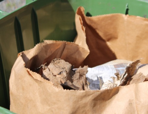 Paper Liners Are the Best Option If You Line Your Green Cart--Try a Leaf & Yard Waste Bag.