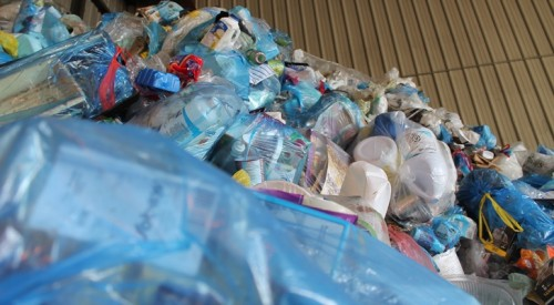 Empty and Rinse Your Blue Bag Recyclables. Paper Goes in a Separate Bag.